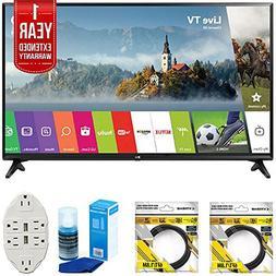 "LG 43"" Class Full HD 1080p Smart LED TV 2017 Model  with 2x"