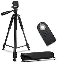 60 Inch Lightweight Aluminum Camera Tripod Bundle  – Inclu