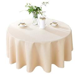 HIGHFLY Linen Round Tablecloth 60 inch Waterproof and Stain