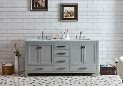 """London 60"""", 72"""" Vanity New Double Sink Bathroom Vanity Base"""