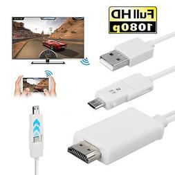 MHL Micro USB to HDMI HD 1080P TV Cable Adapter for Android