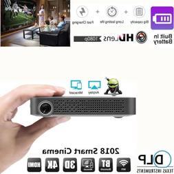 MINI POCKET ANDROID WIFI BLUETOOTH HD 1080P DLP PROJECTOR HO