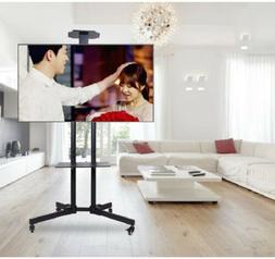 Mobile TV Cart Stand Television Stand Wheels Video Shelf for