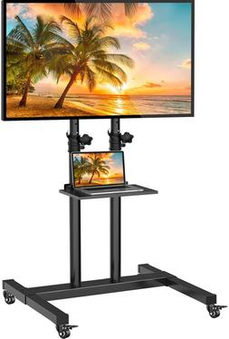 Mobile TV Stand with Wheels for 32-60 Inch LED LCD OLED 4K F