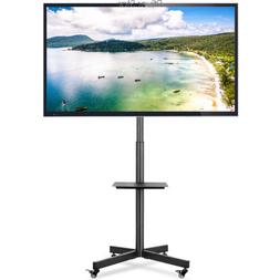 Mobile TV Stand with Wheels/Tilt Mount for Most 27-60 Inch L