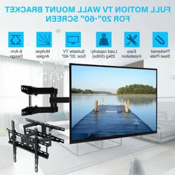 Full Motion TV Wall Mount Bracket 24 30 37 40 42 47 50 52 55