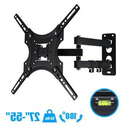 "Full Motion TV Wall Mount Tilt Swivel For 27""32""37""42""46""47"""