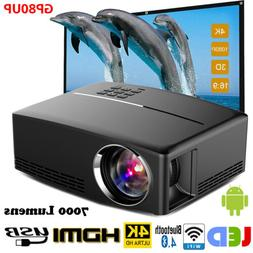 GP80UP Multimedia 4K WiFi Android Bluetooth 3D LED Projector