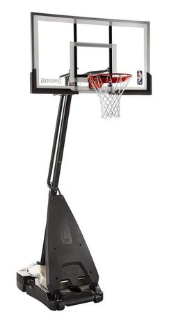 "Spalding Nba Hybrid Portable Basketball System - 60"" Acrylic"