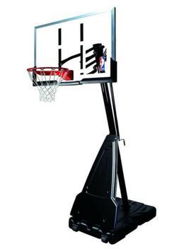 "Spalding NBA Portable Basketball System - 60"" Acrylic Backbo"