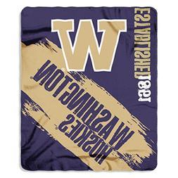"""NCAA Washington Huskies Painted Printed Fleece Throw, 50"""" x"""
