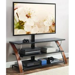 NEW Whalen Brown Cherry 3-in-1 Flat Panel TV Stand for TVs u