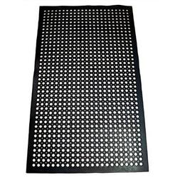 New Floor Mats & Matting Star 1 Pc Heavy Duty Black 36x60 In