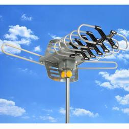 New HDTV Outdoor Amplified Antenna 360 Rotor Digital HD TV U