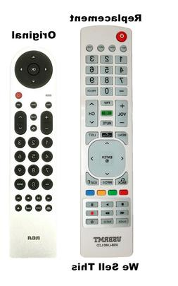 New USB Universal Remote for RCA LCD LED HDTV Silver Remote