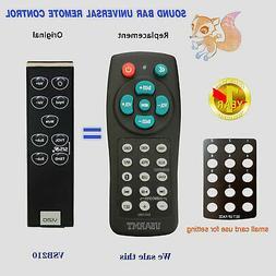 NEW Vizio VR8S VSB200 VSB210 Sound bar Remote Control with B