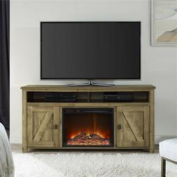 New Wood Electric FIRE Place TV Stand With Storage-up to 60