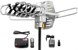 Outdoor Amplified Antenna 150 Miles Range 360 Rotation Wirel