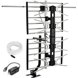 Outdoor Digital HD TV Antenna with High Gain Amplifier 150 M