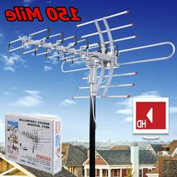 Outdoor HDTV Antenna Digital HD TV 150 Mile Amplified Clear