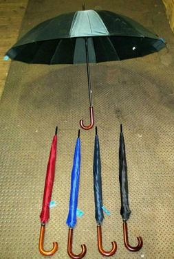 PICK 1-60 INCH ROUND WIDE JUMBO UMBRELLA, CURVED HANDLE-UM12