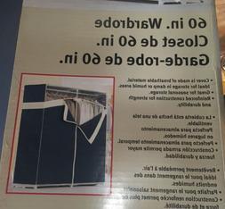 Portable Closet Wardrobe 60-inch Rubbermaid Storage Durable