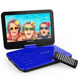"""Spacekey Portable DVD Player 10"""" with 5 Hours Rechargeable B"""