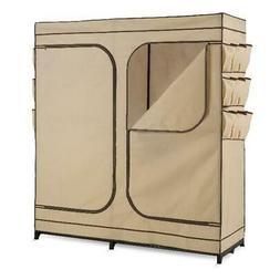 Portable Wardrobe Closet Shoe Organizer 60-Inch Clothes Rack