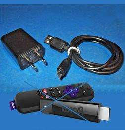 Power Supply Wall Charger + USB Cable For Chromecast Roku 36