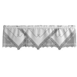 Heritage Lace Prelude 60-Inch Wide by 16-Inch Drop Valance,