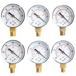 "Pressure Gauge 52mm 1/4"" BSPT Vertical 15,30,<font><b>60</b>"