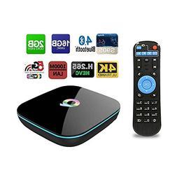 QBox TV Box 4K Android 5.1 2GB 16GB S905 Quad Core 3D Blueto