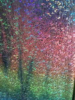 rainbow reptile hologram spandex 4 way stretch