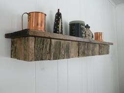 Reclaimed Rustic Wood Floating Fireplace Shelf Mantel Mantle