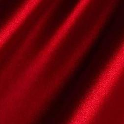 "Red Satin Fabric 60"" Inch Wide - 20 Yards By Roll - For Wedd"