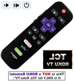 IKU Replacement Remote for TCL Roku TV with Power/Volume Con