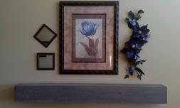 Rustic Shelf Floating Wood Beam Grey Gray Fireplace Mantle M