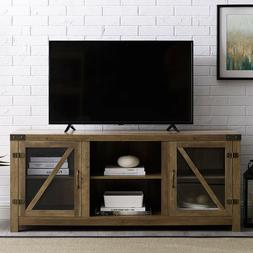 Rustic TV Stand Smart 4K Farmhouse Entertainment Center up t
