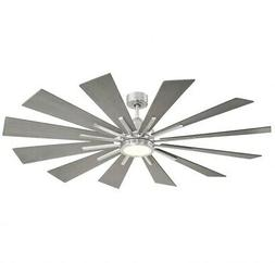 Sage Avenue - 60 Inch Ceiling Fan with Light Kit  Brushed Pe