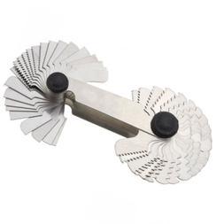 Screw Thread Pitch Cutting Gauge Gage Tool 4pc 55 & 60° Inc