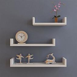 Set of 3 Floating Shelves Bookshelf Wall Mount Shelf Display