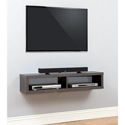 Shallow Wall Mounted Console in Walnut Finish