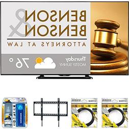 """Sharp 80"""" Class Full HD Commercial LED TV  with 2X 6ft High"""
