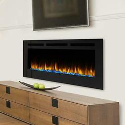 SimpliFire Allusion 60-Inch Wall Mount Electric Fireplace