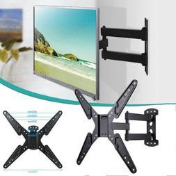 Single Swing Arm Full Motion TV Wall Mount Pivot Tilt Swivel