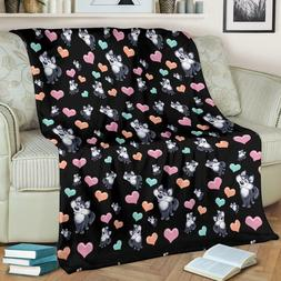 Snow Dog Lovers Blanket | Husky Malamute Dogs Bedding Throw