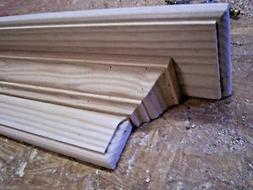 SOLID ASH 60 INCH HAND BUILT WALL SHELF, MANTEL, STAIN GRADE
