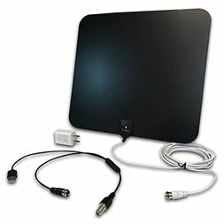 Styles II Super Thin Indoor HD TV Antenna - 50 Mile Range De