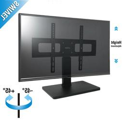 Swivel Universal Base Table Top TV Stand W/ Mount for 27-65""