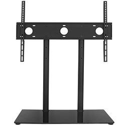 WALI Table Top TV Stand with Glass Base and Security Wire Fi